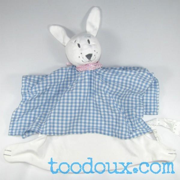 sp cialiste en sos doudou plat lapin blanc ik a carreau bleu et blanc. Black Bedroom Furniture Sets. Home Design Ideas