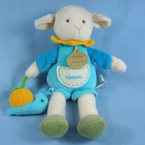 Mouton ou Agneau DOUDOU ET COMPAGNIE bleu, escargot