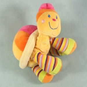 Tortue MOTS D'ENFANTS doudou multicolore