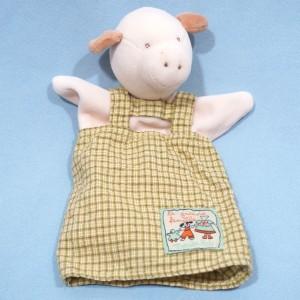 Cochon Moulin Roty doudou marionnette La Grande Famille