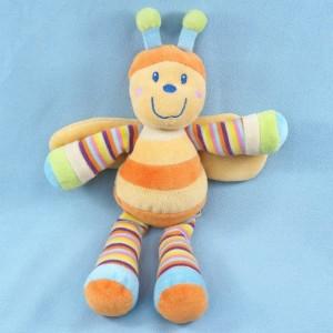 Abeille MOTS D'ENFANTS doudou orange et jaune