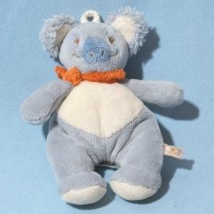 "Koala ""Cuby"" NOUKIE'S doudou bleu foulard orange"