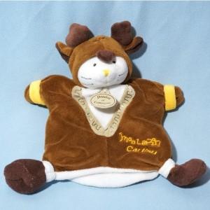 Lapin DOUDOU ET COMPAGNIE marionnette déguisé en Caribou
