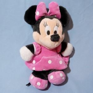 Minnie DISNEY NICOTOY sos doudou peluche robe rose