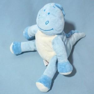 Dragon BENGY doudou dinosaure bleu et blanc