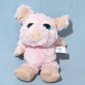 Cochon QUIRON by FAMOSA sos doudou peluche rose