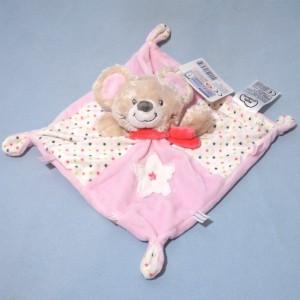 Koala MOTS D'ENFANTS doudou plat rose