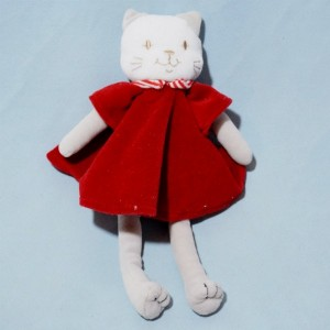 Chat SUCRE D'ORGE sos doudou robe rouge