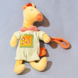 Girafe MOULIN ROTY petit hochet collection Les Loustics