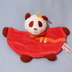 Panda ORCHESTRA sos doudou plat rose