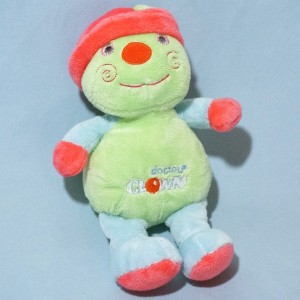 Clown ADDEX sos doudou vert rose et bleu