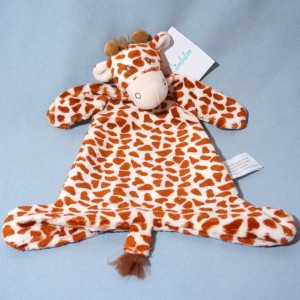 Girafe KIMBALOO doudou plat tacheté marron