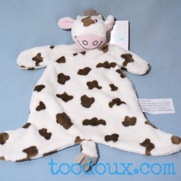 Vache KIMBALOO doudou blanc et beige