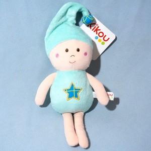 Lutin KIKOU sos doudou bleu étoile