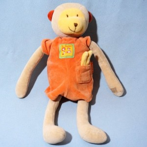Singe MOULIN ROTY sos doudou collection Les Loustics