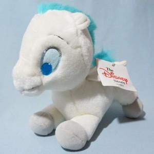 Pegasus DISNEY Store peluche blanche crinière bleue