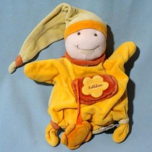 Tortue DOUDOU ET COMPAGNIE  doudou marionnette orange