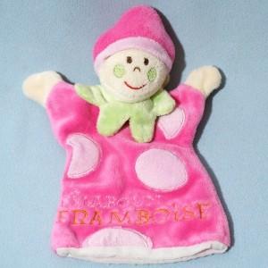Lutin CMP doudou marionnette rose Framboise
