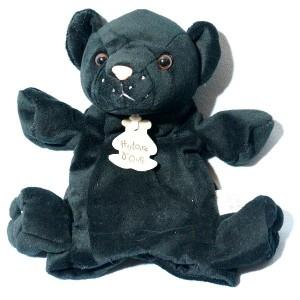 Panthère HISTOIRE D'OURS sos doudou marionnette noir