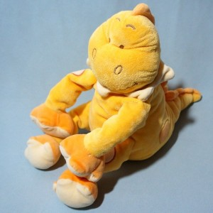 Dragon BENGY doudou dinosaure orange 38 cm
