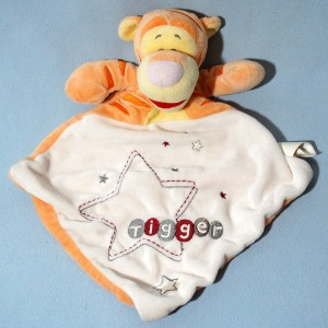 Tigrou DISNEY Simba doudou carré plat orange Tigger
