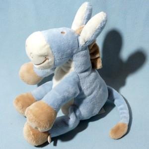 Ane NOUKIE'S sos doudou Paco bleu 25 cm