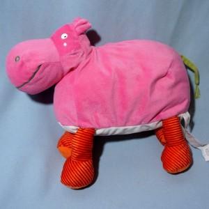 Hippopotame IKEA doudou en peluche rose