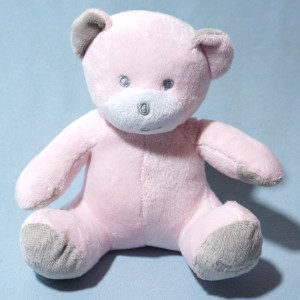Ours MUSTI MUSTELA doudou peluche rose