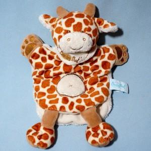Girafe BABY NAT sos doudou marionnette plat