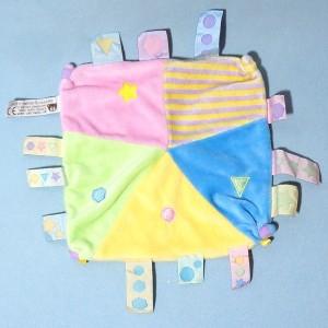 """carré plat CMP """"Un Rêve de Bébé"""" Doudou avec étiquettes"""