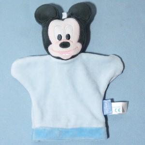 Mickey DISNEY Baby sos doudou marionnette bleu