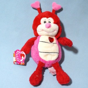 Coccinelle GIPSY doudou peluche rose et rouge