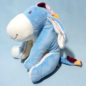 Ane Bourriquet DISNEY NICOTOY doudou assis bleu