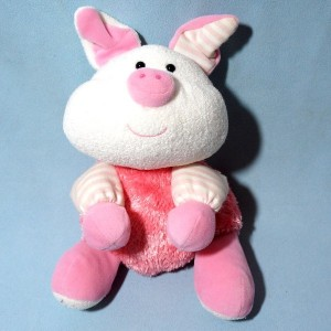 Cochon LUMINOU doudou peluche rose
