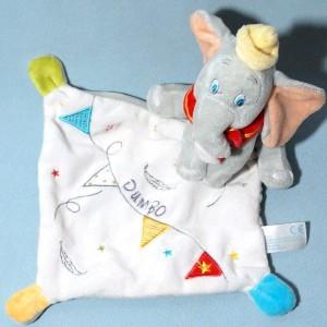 Eléphant NICOTOY doudou Dumbo plat