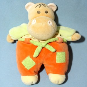 Chien NOUNOURS doudou pirate orange