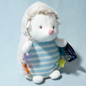 Hérisson LUMINOU doudou bleu et blanc