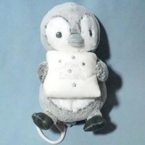 """Pingouin TEX BABY Carrefour sos peluche musicale """"mon doudou"""""""