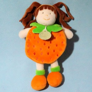 poupée DOUDOU ET COMPAGNIE fruit orange
