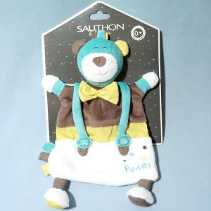 Ours SAUTHON doudou plat Paddy