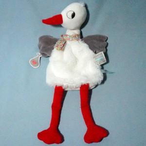 Cigogne KALOO doudou marionnette Nopnop