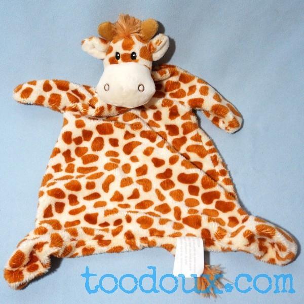 Girafe KIMBALOO (La Halle) doudou plat tacheté marron