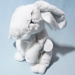 Lapin HO ! STUDIO peluche gris et blanc