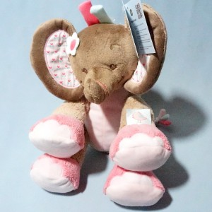 Rose l'éléphant NATTOU doudou peluche