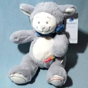 Mouton Guss NOUKIE'S doudou peluche gris