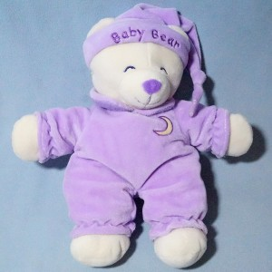Ours GIPSY doudou violet, bonnet Baby Bear
