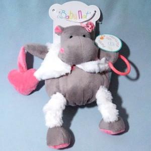 Hippopotame BABY NAT doudou d'activités Zoé