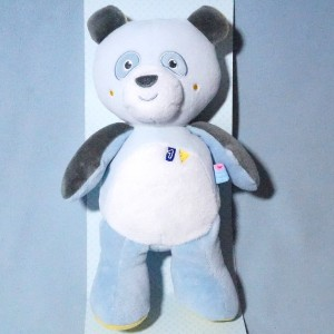 Panda SUCRE D'ORGE peluche bleue