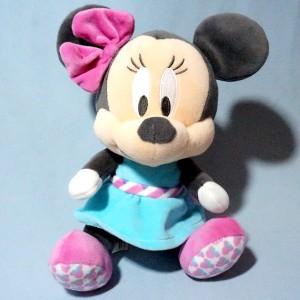 Minnie DISNEY NICOTOY sos doudou peluche robe bleue