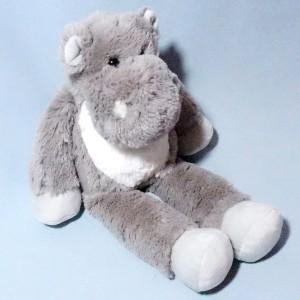 Hippopotame BOUT'CHOU (Monoprix) doudou en peluche gris